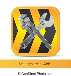 illustration of icon for setup application or tools, vector illustration