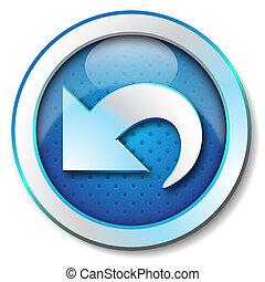 Icon for web blue, Arrow back web icon