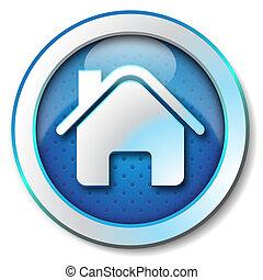 Icon for web blue, Home web icon