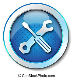 Tool repair web icon - Icon for web blue, Tool repair web...