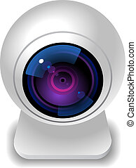 Icon for webcam. White background. Vector saved as eps-10,...