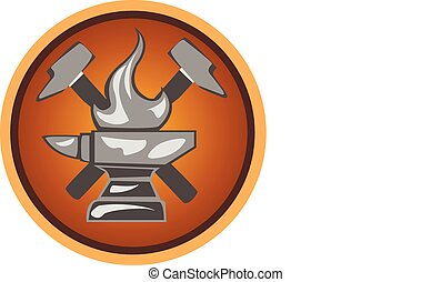 icon forge - icon blacksmith shop from anvils and hammers