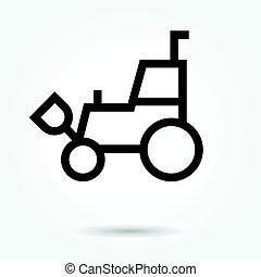 icon Forklift Skid telescopic loader vector illustration. Flat design style on white background and logo