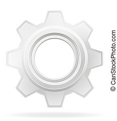 icon gear vector illustration isolated on white background