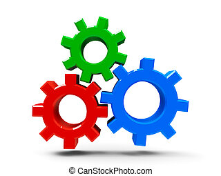 Icon gears - concept of CMS - content management system, ...