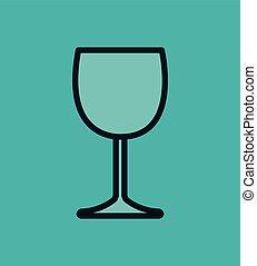 icon glass wine design