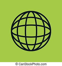 icon global earth globe design
