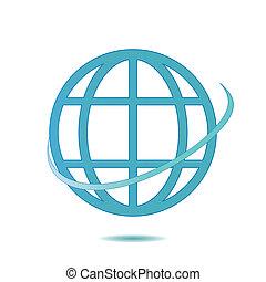 Icon globe.