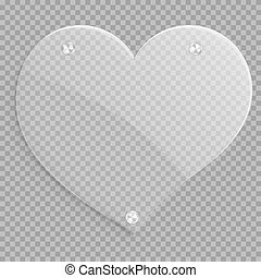 Icon glossy heart - Glass heart with chrome round elements...