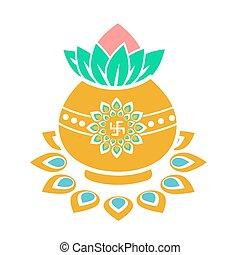 Icon gold pot
