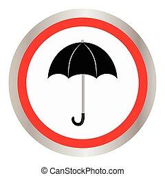 icon., gouttes, parapluie, pluie