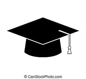 icon graduation hat