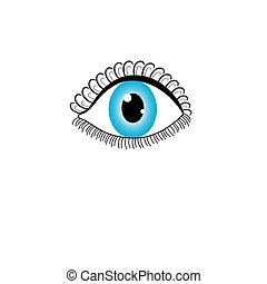 icon graphic eye on a light backgro
