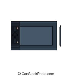 Icon Graphic Tablet, Vector Illustration