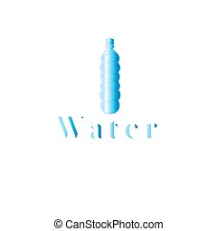 Icon graphics bottle of water