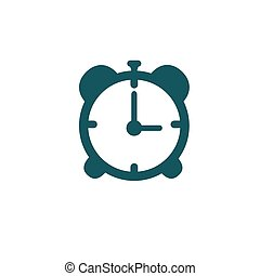 Icon gray alarm clock isolated on white background. Vector illustration