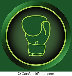 Icon green boxing glove