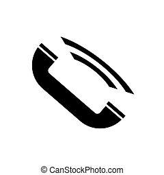 Icon handset is black on a white background.