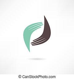 icon., handshake., 商业, transaction.