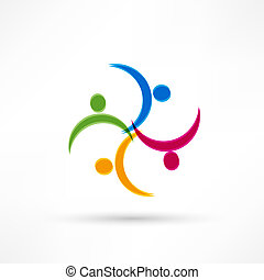 icon., handshake., affär, transaction.