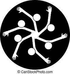 icon., handshake., business