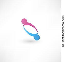 icon., handshake., negócio