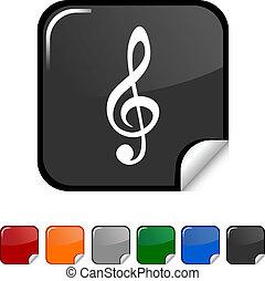 icon., hangjegykulcs