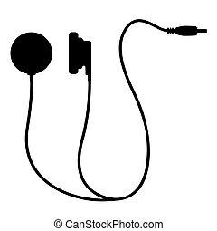 Creative design of icon headphones