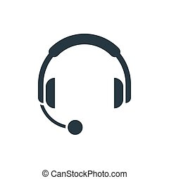 headphones with microphone icon