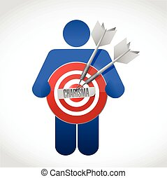 icon holding a charisma target illustration design over a...