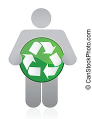 icon holding a recycle