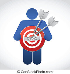 icon holding a success target illustration design