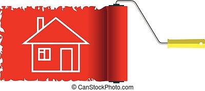 Icon Home construction. House Isolated on white background. Illustration.