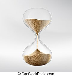 Icon hourglass. Device for measuring time. Stock vector...