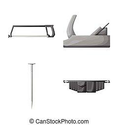 icon., illustration., サービス, 建造しなさい, ベクトル, デザイン, コレクション, 修理, 株