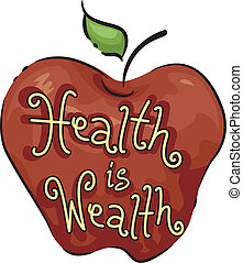Icon Illustration Representing Health is Wealth