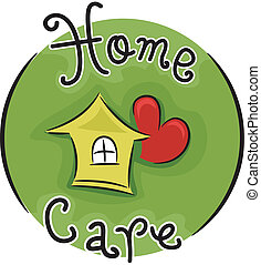 Icon Illustration Representing Home Care