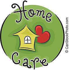 Home Care - Icon Illustration Representing Home Care