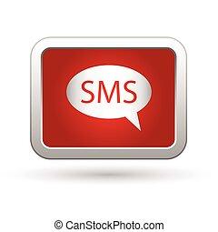 icon., illustration, sms, vektor