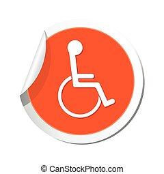 icon., illustration, vecteur, handicap