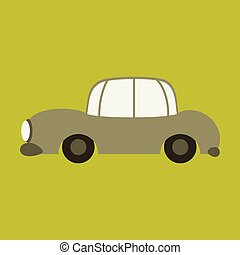 Icon in a flat style car