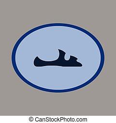 Icon in flat design fashion footwear flip flops