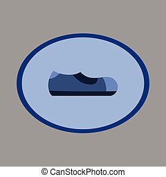 Icon in flat design fashion footwear Man shoe