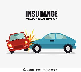 icon insurance car crash security design