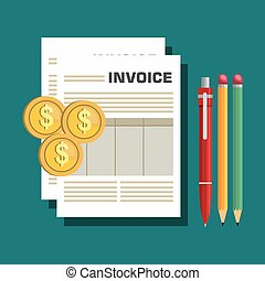 icon invoice design - icon invoice form design vector...