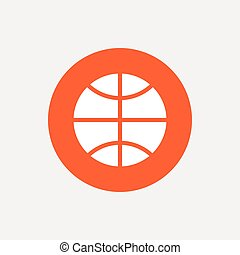 icon., koszykówka, sport, symbol., znak