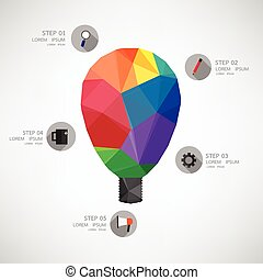 icon lamp idea Vector illustration