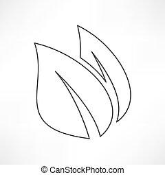 icon leaf