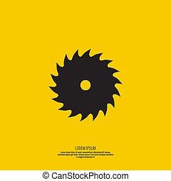 icon., lemmet, zaag