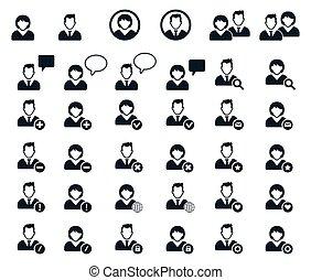 icon., leute, human resources, heiligenbilder